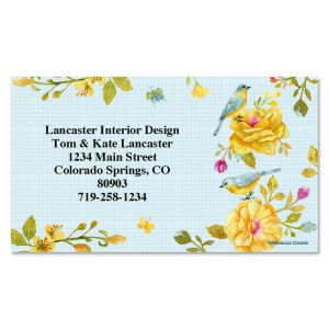 Yellow Roses Business Cards