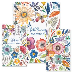 Embroidered Florals Organizer Books