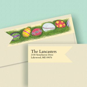 Easter Eggs Connect Wrap Diecut Address Labels