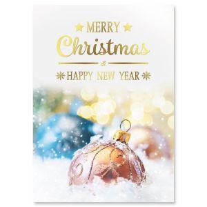 Glisten Foil Christmas Cards