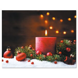 Christmas Candle Note Card Size Christmas Cards