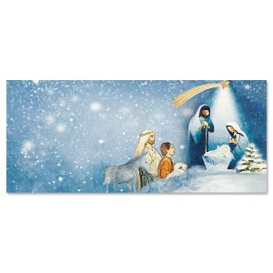 Shining Star Slimline Holiday Cards