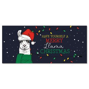 Christmas Llama Slimline Holiday Cards