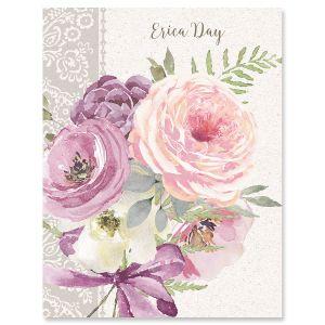 Pink Peony Custom Note Cards