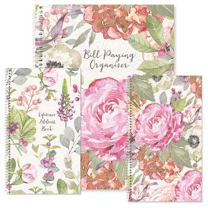 Pink Peony Organizer Books