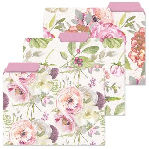 Pink Peony File Folders