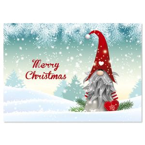 Snowy Elf Christmas Cards