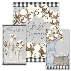 Farmhouse Bolls Organizer Books