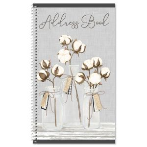 Farmhouse Bolls Lifetime Address Book