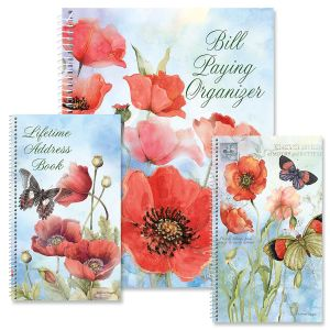Spring Poppies Organizer Books