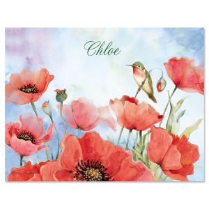 Spring Poppies Custom Note Cards