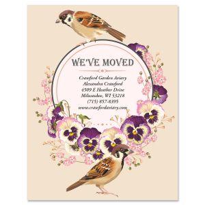 Pansy Garden New Address Postcards