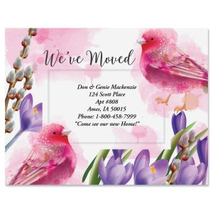 Pink Morning New Address Postcards