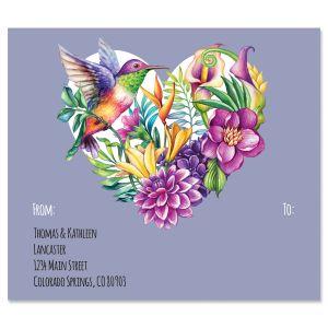 Hummingbird Heart Package Labels
