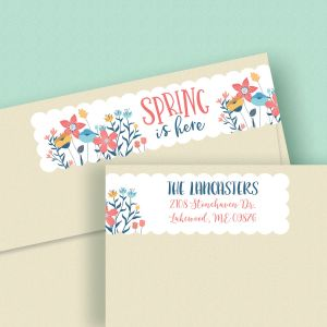 Spring is Here Connect Wrap Diecut Address Labels