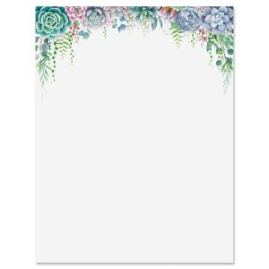 Succulent Border Letter Papers