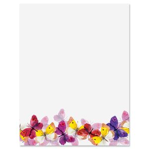 Summer Butterflies Letter Papers