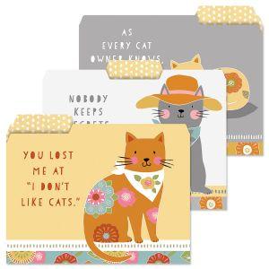 Cat Patch File Folders