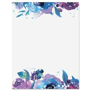 Blue Florals Letter Papers