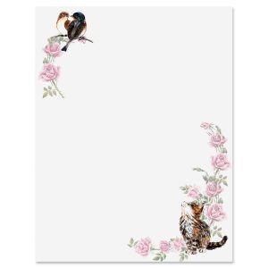 Kitten & Roses Letter Papers