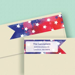 American Stars Connect Wrap Diecut Address Labels