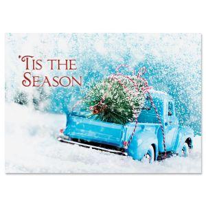 Christmas Tree Truck Christmas Cards