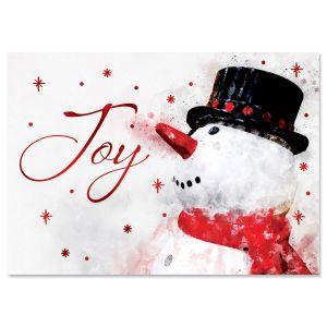 Frosty Joy Foil Christmas Cards
