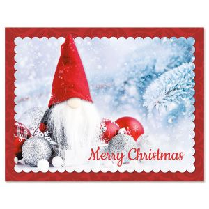 Snowy Gnome Note Card Size Christmas Cards