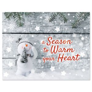 Cute Snowman Note Card Size Christmas Cards