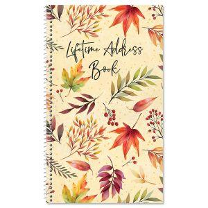 Autumn Flourish Lifetime Address Book