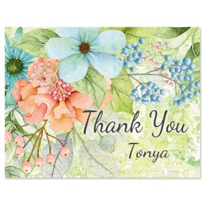 Sentiment Garden Custom Thank You Note Cards