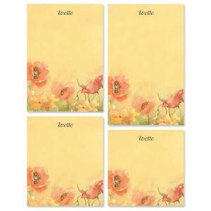 Poppies Memo Pad Sets