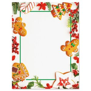 Merry Gingerbread Christmas Letter Papers