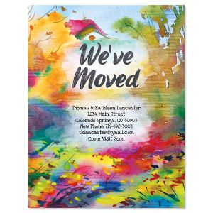 Watercolor Home New Address Postcards