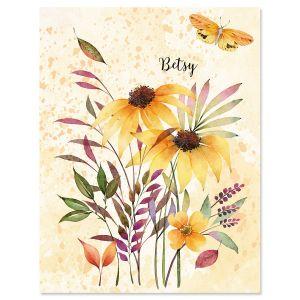 Autumn Flourish Custom Note Cards