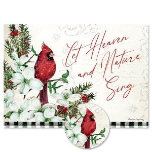 Winter Cardinals & Dogwood Christmas Cards