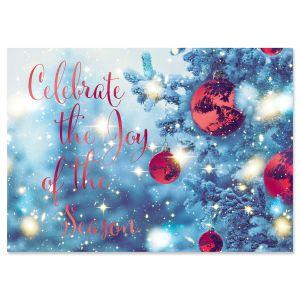 Celebrate the Season Foil Christmas Cards