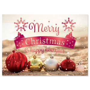 Holiday in the Sand Foil Christmas Cards
