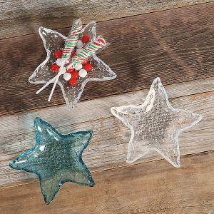 Glass Starfish Dish Set