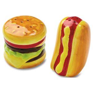 Hot Dog & Hamburger Salt & Pepper Shakers