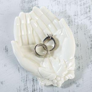 Open Hands Trinket Dish