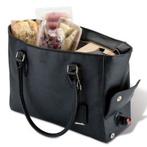 Hide & Chic Insulated Wine Tote with Keychain