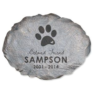 Beloved Friend Custom Pet Memorial Stone