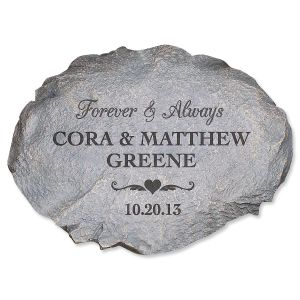 Forever and Always Custom Garden Stone
