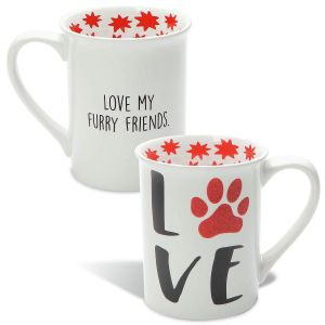 Glittery Love My Pet Mug
