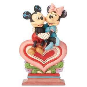 Jim Shore Mickey & Minnie on Heart Figurine
