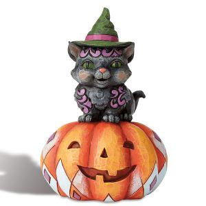 Mini Cat on Pumpkin by Jim Shore