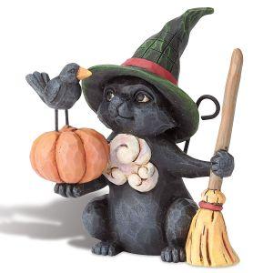 Mini Halloween Black Cat by Jim Shore