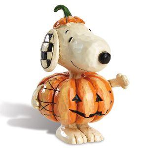 Jim Shore Mini Snoopy™ with Pumpkin Figurine