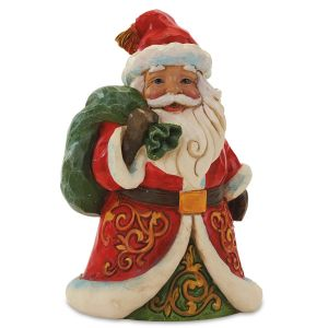 Jim Shore Santa with Bag Figurine